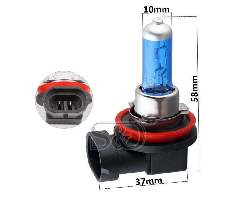 2 adet H8 35W halojen ampuller süper parlak beyaz araba farlar lambalar sis lambası araba işık kaynağı araba styling park 12V