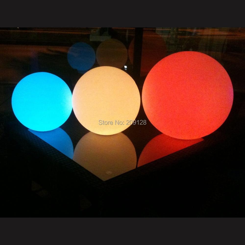 DHL gratis frakt 20cm fargerik ledet ball lys for fest dekorasjon - Ferie belysning - Bilde 2
