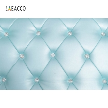 Laeacco Floral Headboard Bed Diamond Pattern Scene Photographic Background Seamless Vinyl Prop Photography Photo Backdrop Studio