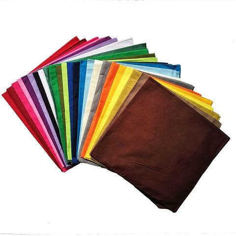 100%Cotton Cotton solid color Bandana Multipurpose Hip-hop Bandanas Hair bands Head Wrap Scarf Scarves Band Headtie for Men Karachi