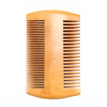 1 pcs Handmade Natural Pear wood Comb Double-side Beard Combs Men Shaving Tools Comb for Hair Beard Gifts for men