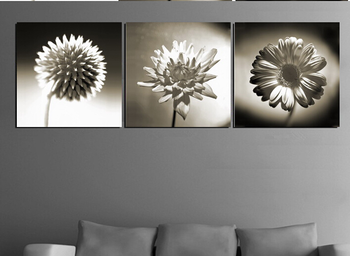 High quality modern wall art picture printed on canvas black and high quality modern wall art picture printed on canvas black and white flower oil painting 3pcsset living room decoration in painting calligraphy from mightylinksfo