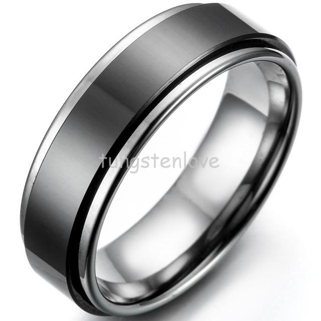 7mm Two Tone Tungsten Ring - Size X u2IjDVw