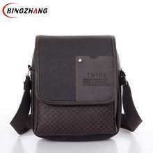 2019 vintage Men's bag shoulder crossbody bags for men messenger bag men leather Pu plaid small male handbags black L4-3333