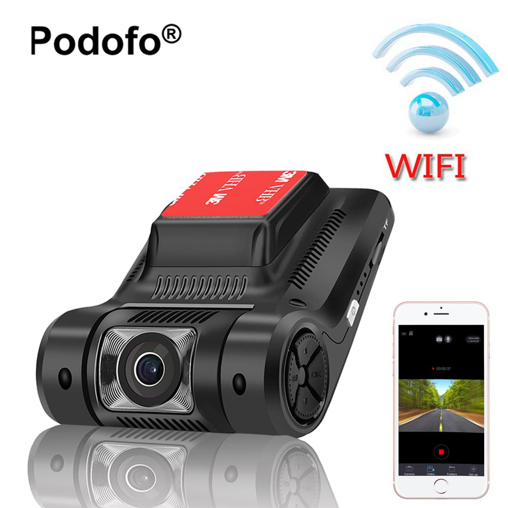 Podofo Novatek 96658 Wifi Hidden Car DVR Mini Camera Registrator Dash Cam FHD 1080P WDR Night Vision Digital Video Recorder