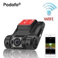 Podofo Novatek 96658 Wifi Cam Registrator Tablero Del DVR Del Coche Oculto Mini Cámara FHD 1080 P WDR Visión Nocturna de Vídeo Digital grabadora