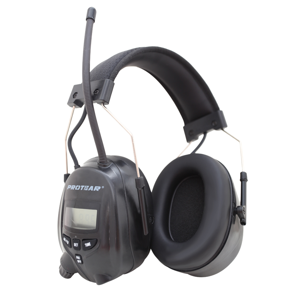 Protear NRR 25dB Hearing Protector AM FM Radio Earmuffs Electronic Ear Protection Radio Hearing Protection