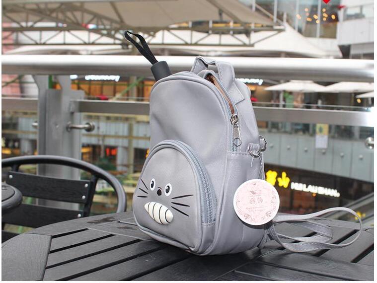 Fedex 10 шт. Хаяо Миядзаки Мой сосед Тоторо большой зубы PU рюкзак аниме школьная сумка подростков сумка рюкзак сумка