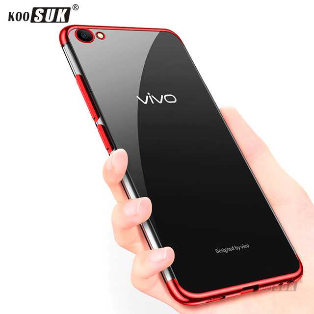 detailed look 4bc7b 90b07 US $3.19 20% OFF|Fashion Color Case For Vivo Y83 Soft Case Ultra thin TPU  Plating Transparent Shining Case For Vivo Y83 Y 83 Phone Back Cover Bag-in  ...