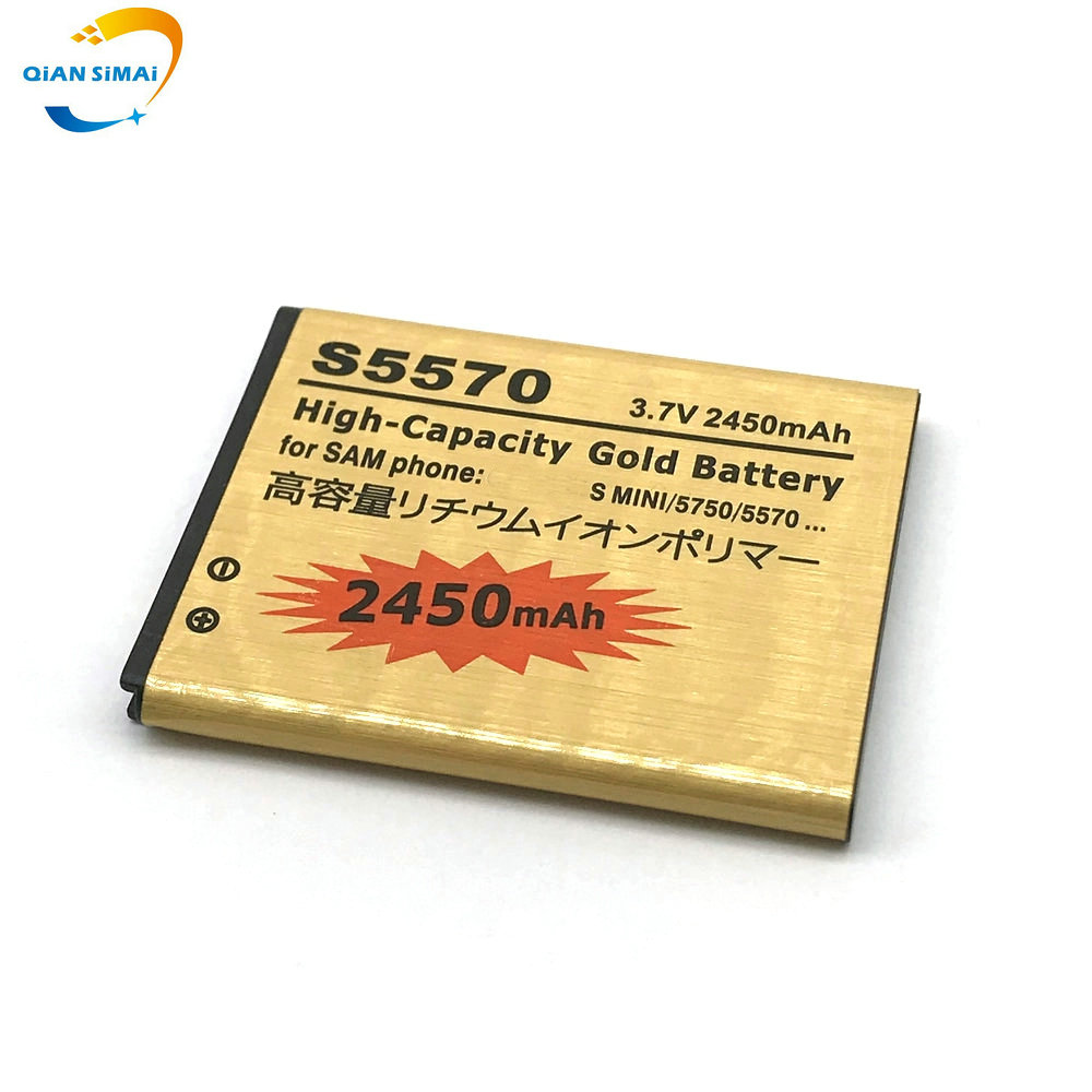 Gold-Battery Wave S5330 Samsung Galaxy Gt-I5510 2450mah for Mini S5570/S5250/S5330/..