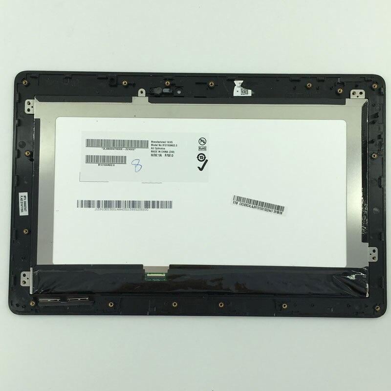 Assemblée de numériseur de panneau d'écran tactile d'affichage à cristaux liquides + FP-TPAY10104A-02X-H de cadre pour le livre T100 T100TA-C1-GR T100T de transformateur d'asus