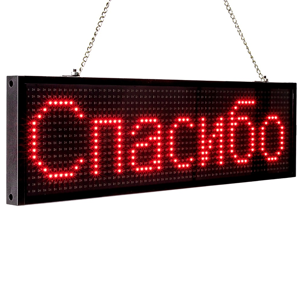 34cm P5MM RGB Led Sign Full color multicolor Programmable Scrolling Message LED Display Board Display Multi-language