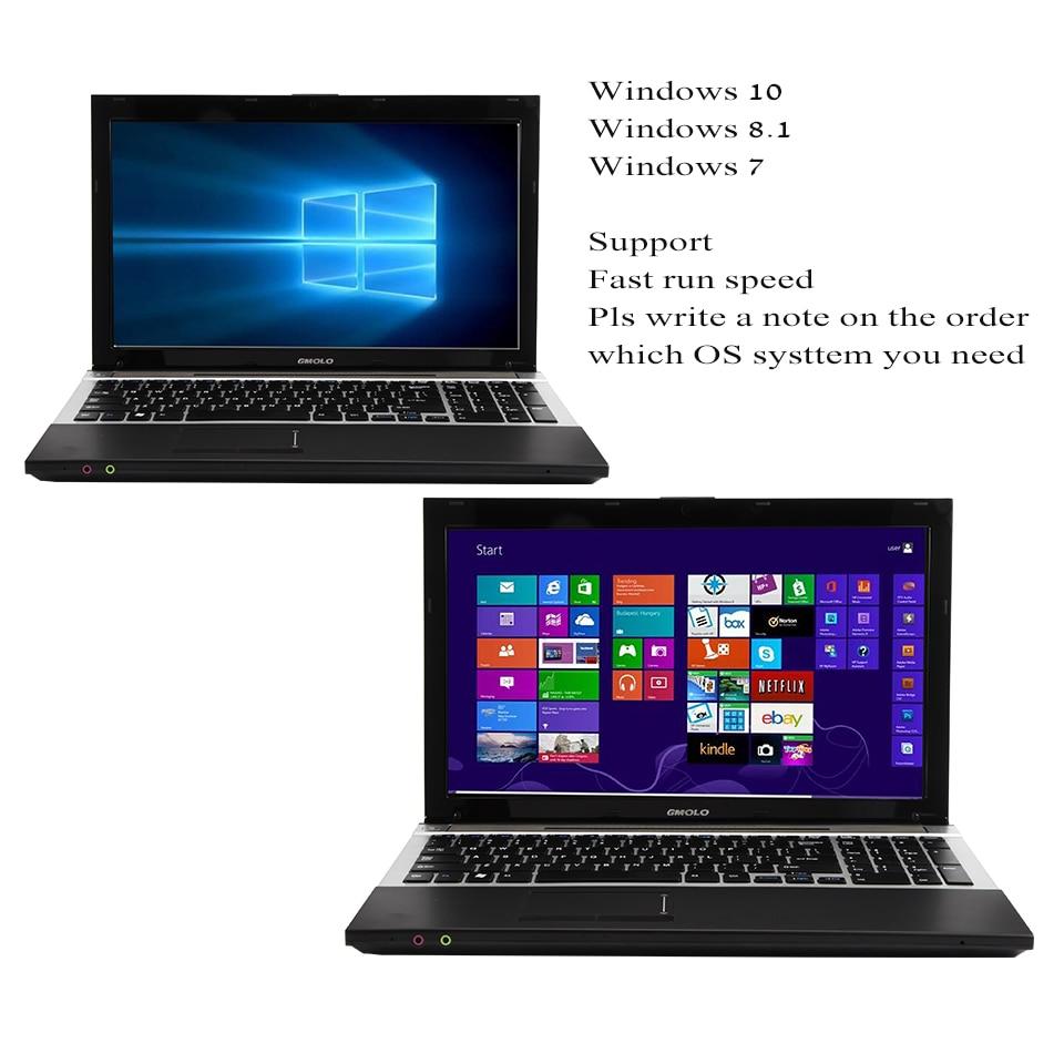 Intel Core I7 laptop computer 8GB+ optional 240GB SSD + optional 1TB HDD  1920*1080 HD screen WIFI Windows 10 gaming notebook