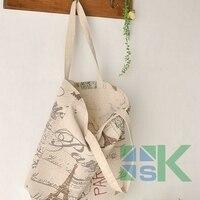 Canvas Women Casual Tote Designer Lady Large Bag Fashion Eiffel Tower Handbags Bolsas Shopping Bag