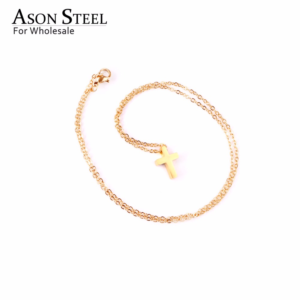 45cm Top 316L Stainless Steel Heart Moon Star CrossPendant Long Link Chains Necklaces Set Gold For Women Choker Necklace Jewelry 22