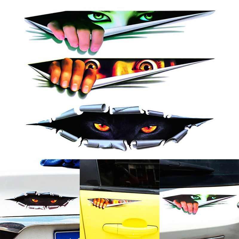 Type Lifelike 3d Car Sticker Creative Modified Stickers Eyes Peeking Monster Waterproof Car Styling Sticker Decoration