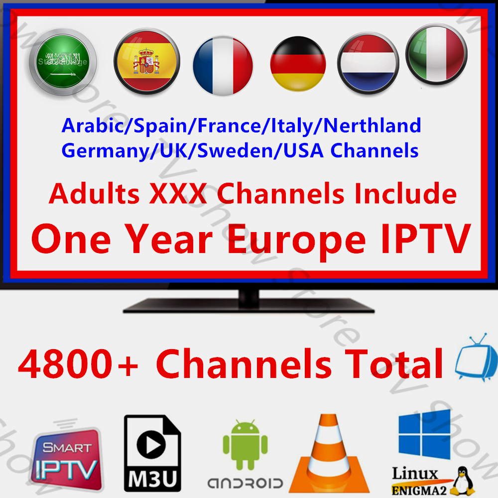 France IPTV Spain Italy Adults 12 Month IPTV Subscription Netherlands Arabic Portugal USA 4800+ Channels android Smart IPTV M3U
