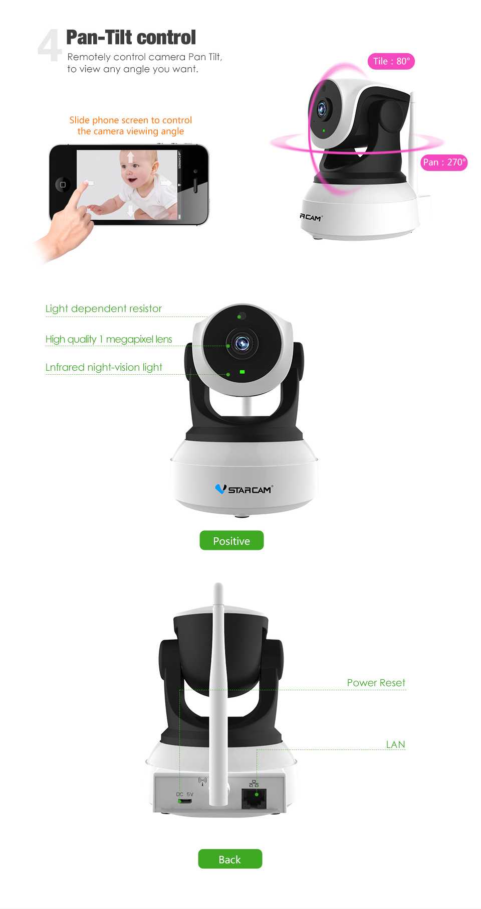 HTB1ycpTb1GSBuNjSspbq6AiipXaj Vstarcam C7824WIP HD WIFI IP Camera 720P Night Vision home Security Camera Wireless P2P Indoor IR cam PTZ IP Camara Audio ONVIF