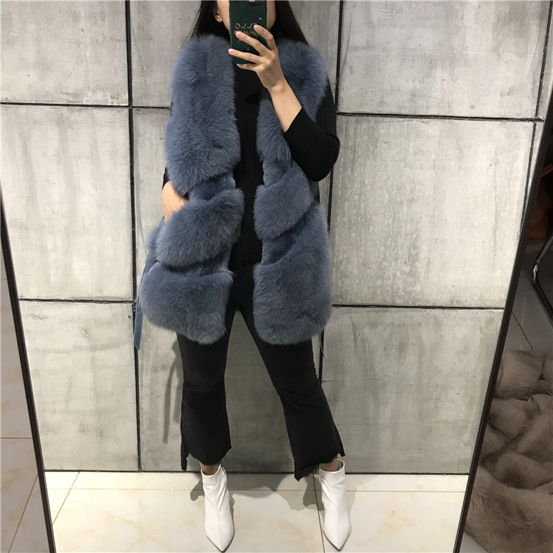 natural fox fur gilet real fox fur vest ladies fur vest