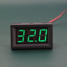 1 PC New Mini DC 5-120V Voltmeter Blue LED Panel 3-Digital Display Voltage Meter 2-wire SA103 P50