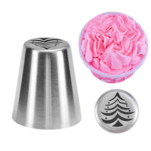 DIY Stainless Steel Christmas Tree Cake Nozzles Russian Icing Piping Nozzle Fondant Cake Decorating Tools Cakes Mold Pastry Tips stainless steel cream puffing icing piping nozzles tips fondant cake decorating sugar craft dessert pastry tool cake mold