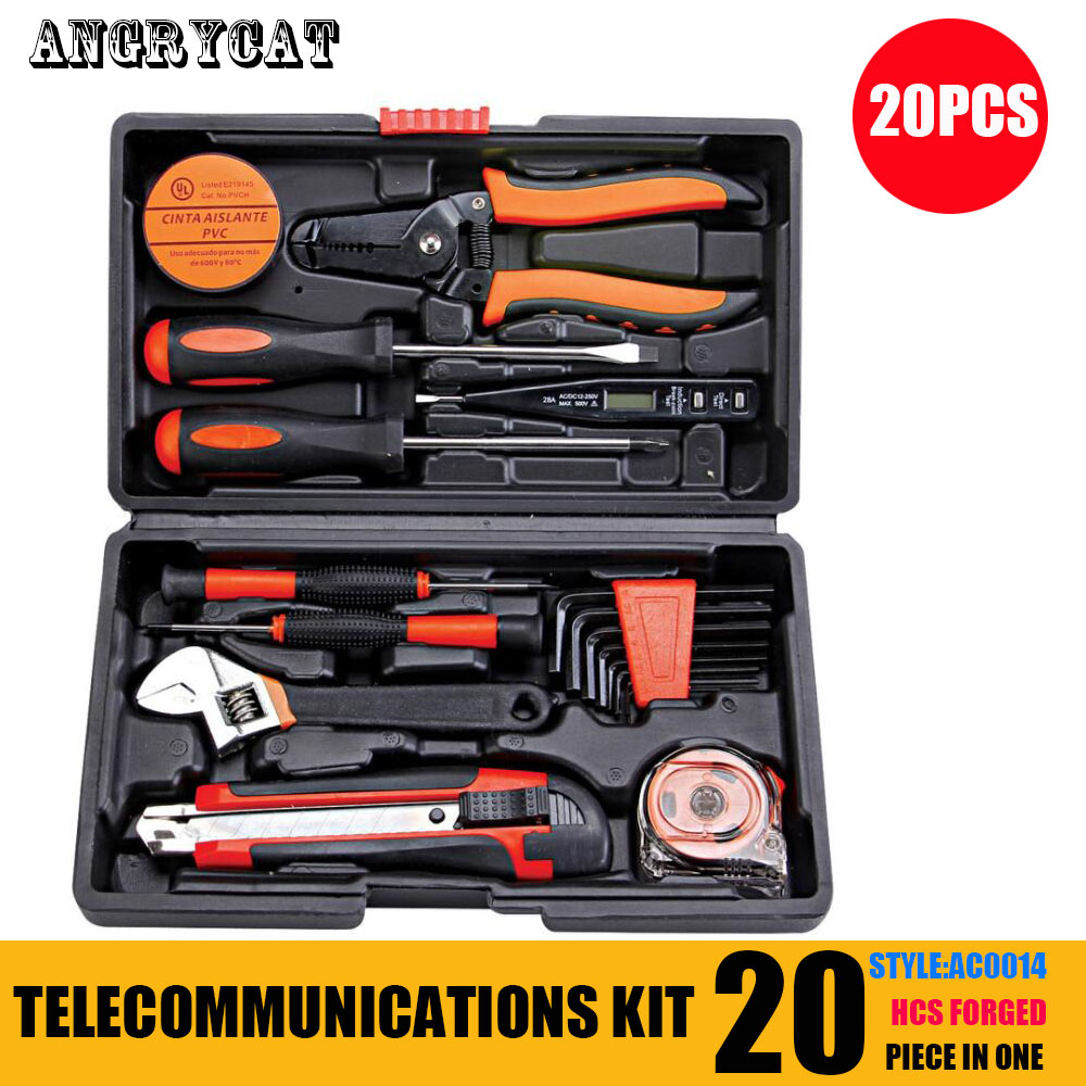 20 PCS Disassemble Screwdriver Set Household Tools Screwdriver Kit Telecommunication Tools For Phone Maintenance