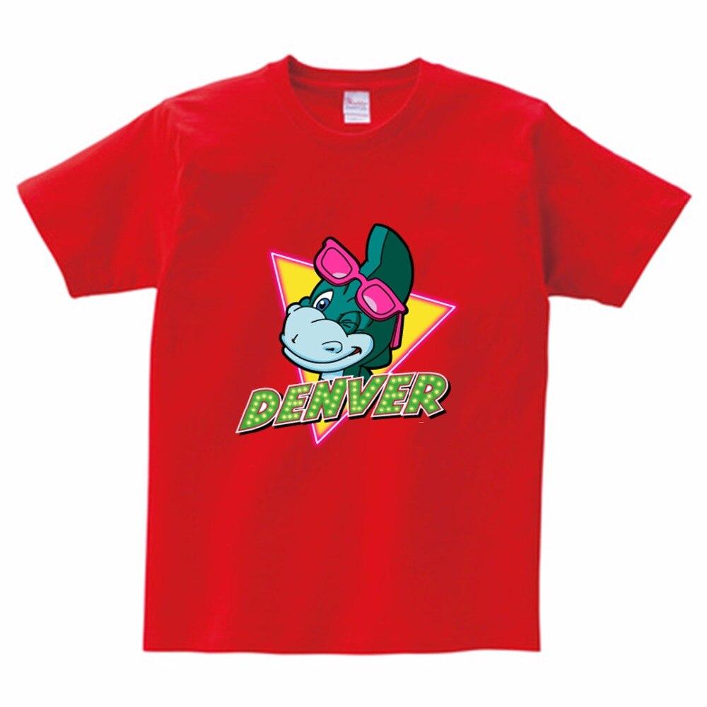 Denver De Laatste Dinosaurus Gitarist Kids T-shirt Fashion Design Creatieve T-shirt Zomer Jongen Meisje Shirt Kinderen Kleding