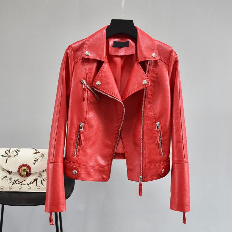 451615ae6b US $29.13 50% di SCONTO|Di modo Fresco di Golden Giacca di Pelle Delle  Donne cerchio di Metallo Moto Cappotto Punk Rock Faux Giacca jaquetas couro  ...