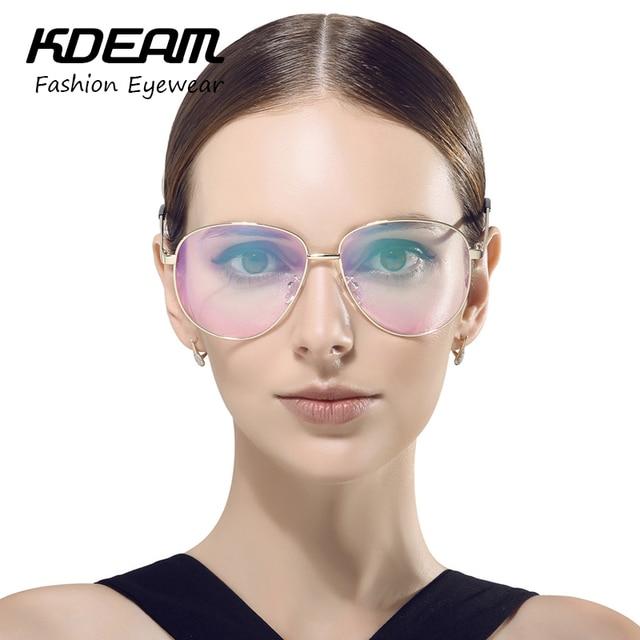 f7c6935d84f KDEAM 2017 Stylish Vintage Alloy Glasses Frame Eyewear For Computer Eyeglasses  Spectacles Gafas De Grau KD822