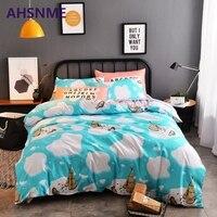 AHSNME Light Gray Textile Products Bedding Set Russia Australia EU Size 4pcs Quilt Cover Sheets Pillowcases