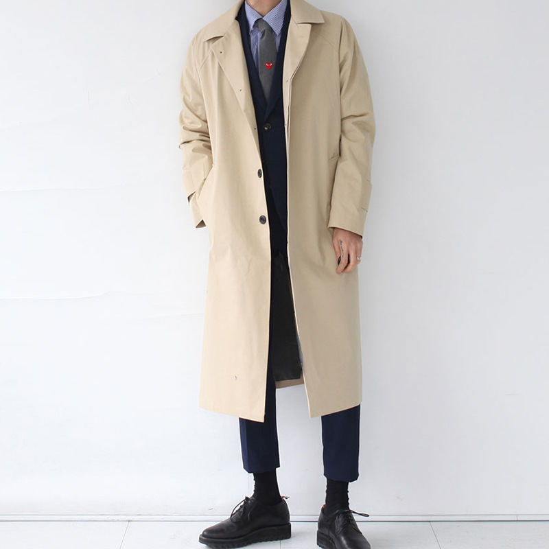 BIUZKO Japan Style Mens Trench Coat 2019 Designer Long Windbreaker Autumn Winter