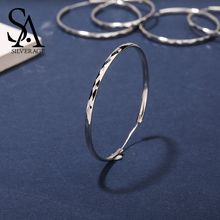 SA SILVERAGE Silver Fine Jewelry Hoop Earrings for Women Hanging Long 2019 925 Huggie