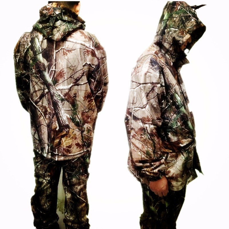 Waterproof breathable dead leaves camouflage fishing hunting 3D Bionic Ghillie Suit Snipper Tactical Military clothes jacket