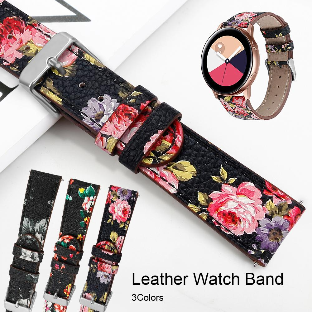 Image 2 - High Quality Replacement Classic Leather Watch Band Wrist Strap Comfortable For Samsung Galaxy Watch Active-in Smart Accessories from Consumer Electronics