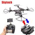 Skytech TK110HW Wifi FPV 720 P HD Camera RC Quadcopter Dobrável zangão w/Plano de Vôo Rota Controle App & Altitude Hold função