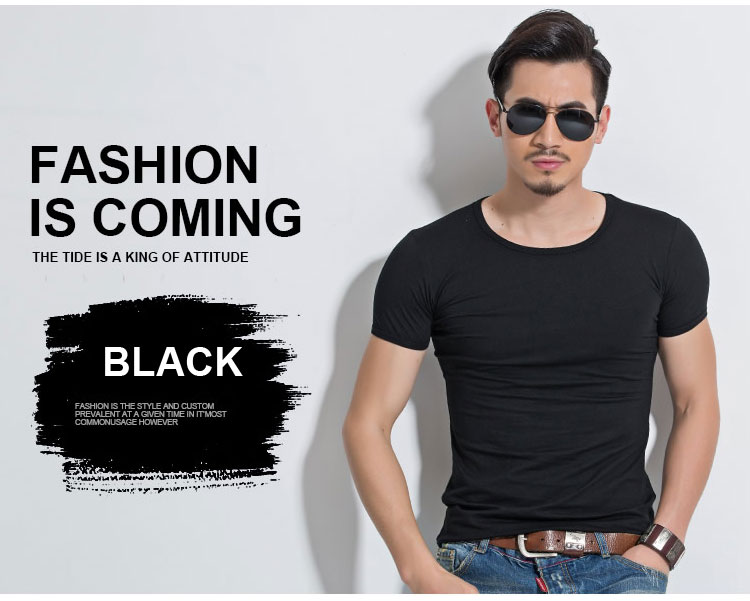 HTB1ycr3SpXXXXXwXFXXq6xXFXXXv - Lycra Men'S T Shirt Short Sleeve T-Shirt O-Neck Slim Solid Color Half Sleeved Tee Shirt MRMT
