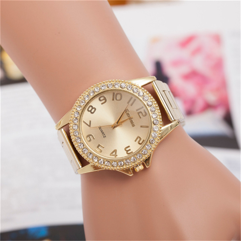 2016 New Hot Selling Fashion Women And Men Golden Mesh Belt Watches  High Quality Luxurious Diamond Alloy Quartz Watches On Sale