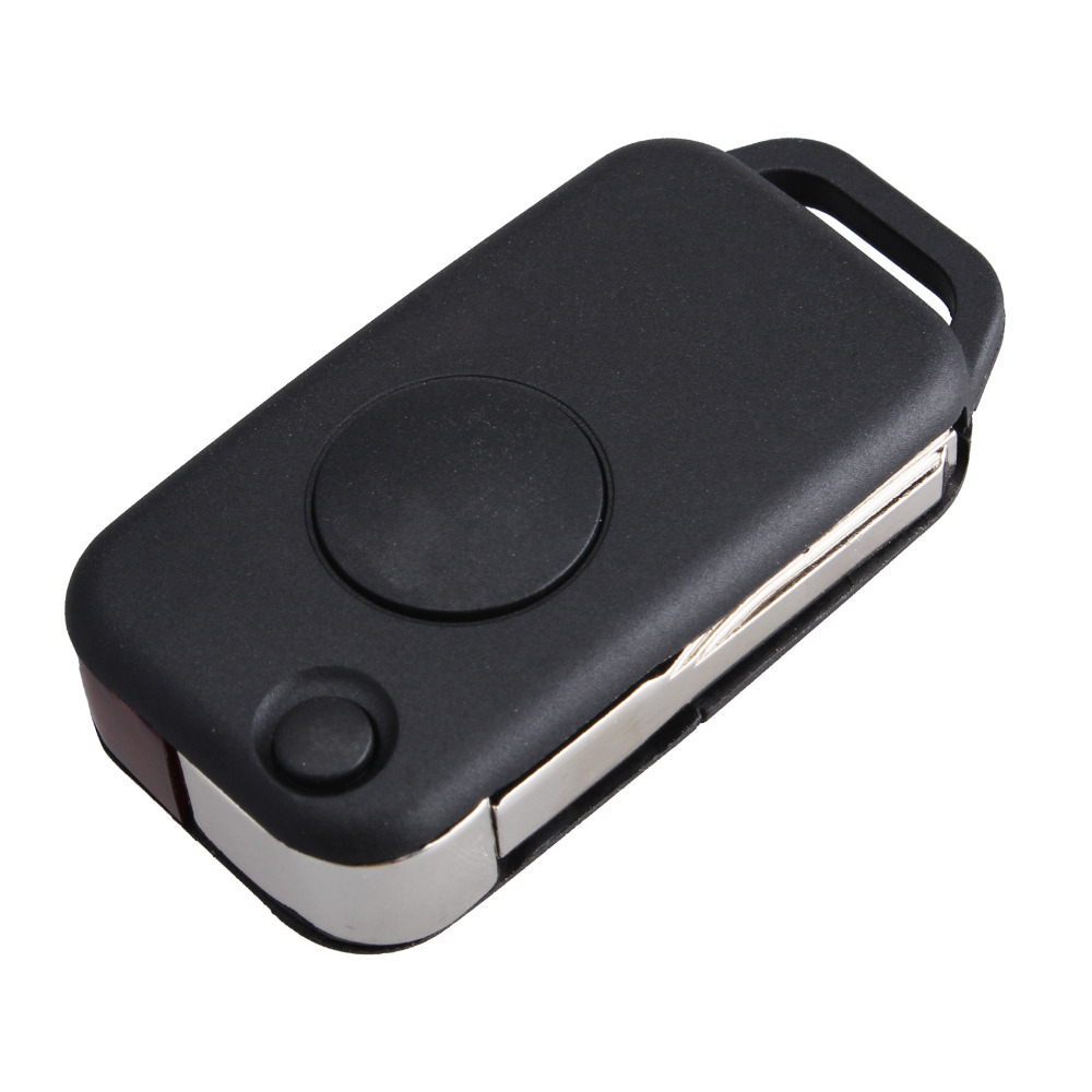 New replacement flip 1 button remote key shell case fob for Replacement key for mercedes benz