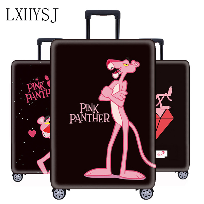 Pink Panther Pattern Luggage Cover Thicken Suitcase Protective Covers 18-32 Inch Trolley Case Dust Cover Travel Accessories