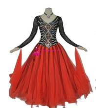 Women Ballroom Competition Skirt Adult High Quality Custome Made Modern Flamenco Waltz Dance Dresses