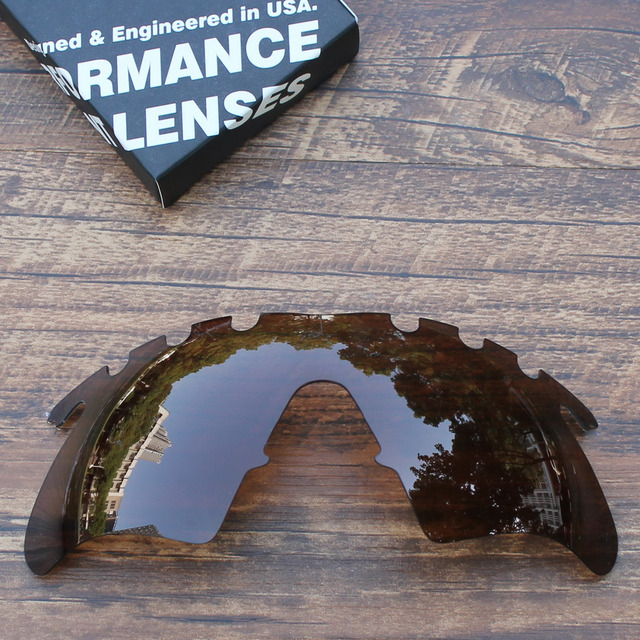 26368ac1f10 ToughAsNails Polarized Replacement Lenses for Oakley M Frame Heater Vented  Sunglasses Brown Color (Lens Only