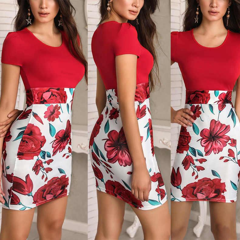 Новинка 2019 г. летнее платье с принтом офисные миди карандаш большой для женщин обтягивающее Бандажное платье женская одежда NS9018