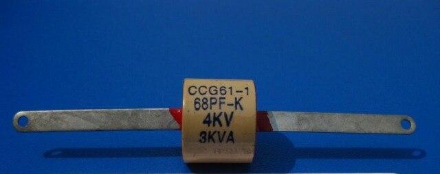 CCG61-1 68 P/PF/K/II 4KV 3KVA haute fréquence à haute fréquence haute tension haute puissance en céramique diélectrique condensateur