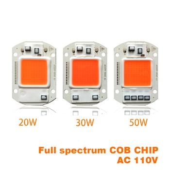 10PCS Led Grow Light Chip 20W 30W 50W Full Spectrum 380nm840nm AC220V/110V For Hydroponics Greenhouse DIY for COB Lamps