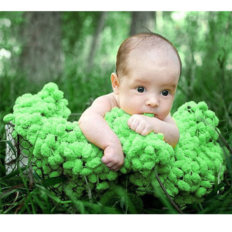 Comfortable Knitted Crochet Newborn Blanket Mat Baby Infant Toddler Balls Blanket Photography Props