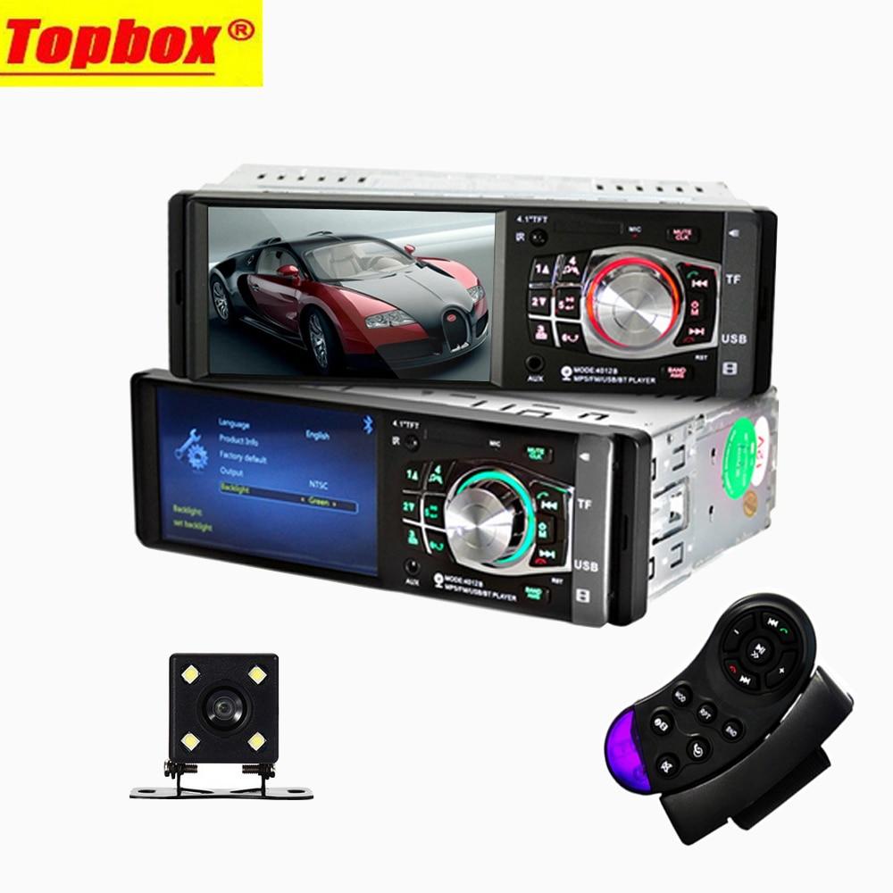 imágenes para Nuevo Auto 1 Din 4.1 ''HD Car Multimedia Player MP3 MP5 Audio Estéreo Bluetooth de Radio FM Control Remoto Apoyo Cámara de Visión Trasera