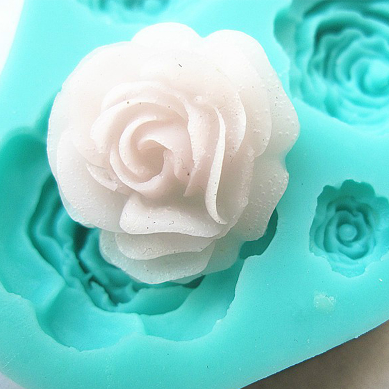 4 roses cake mold silicone baking tools kitchen accessories decorations for cakes Fondant chocolates