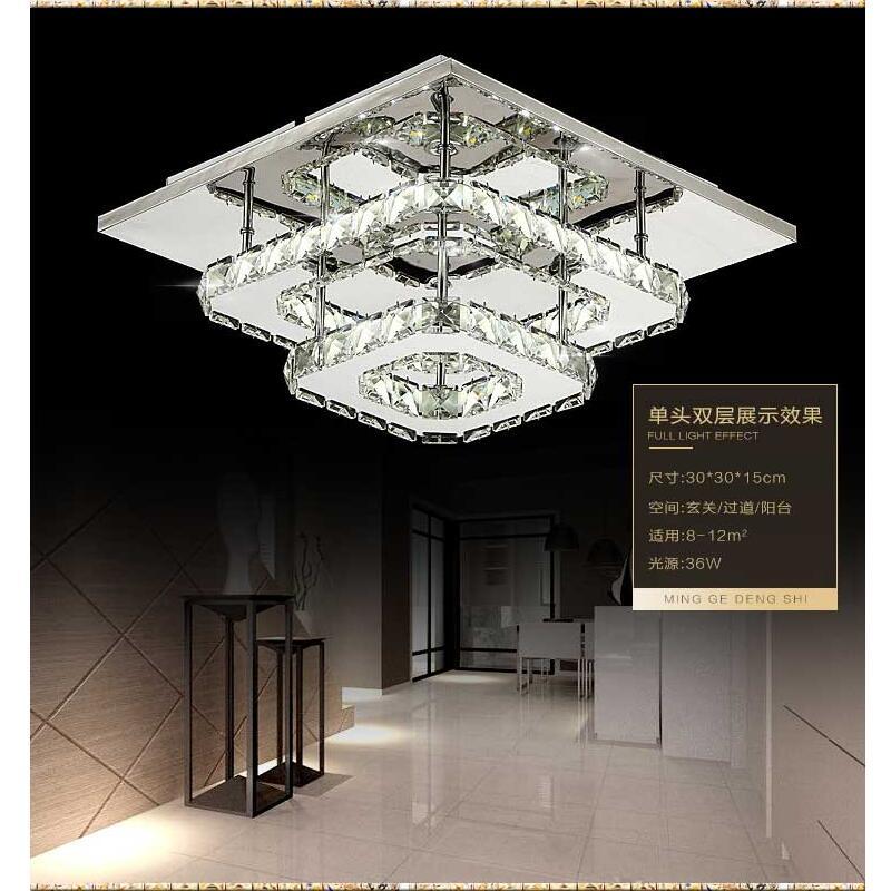 Modern Crystal Led Ceiling Lights Bedroom Living Room Plafond Lamp Lampen Kristal Design Light Fixtures Lustre