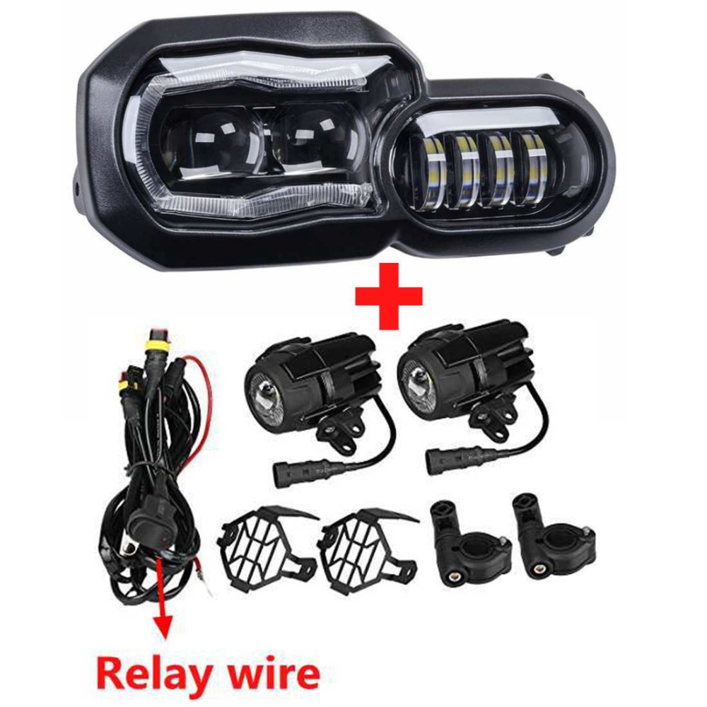 For BMW 800GS Headlight High/Low Beam Daymaker DRL Replacement Headlamp Assembly Kit For BMW F650GS/F700GS/F800GS F800ADV F800R
