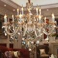 Большой модный хрустальный подвесной светильник для гостиной, хрустальная лампа для спальни, подвесной светильник k9, роскошный E14, большая ...